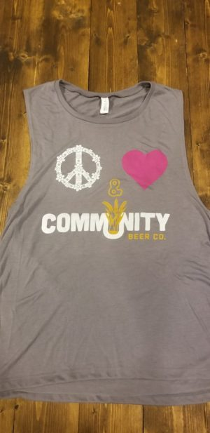 Peace, Love, and Community Ladies' muscle tank