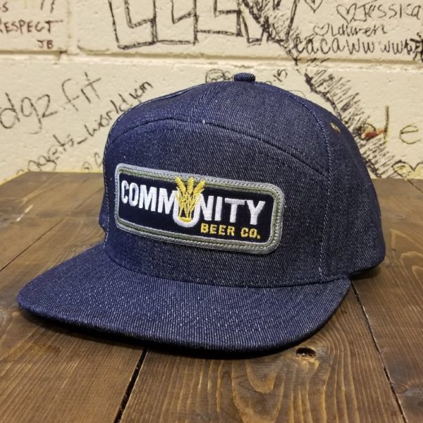 Community Denim 7-Panel Snapback