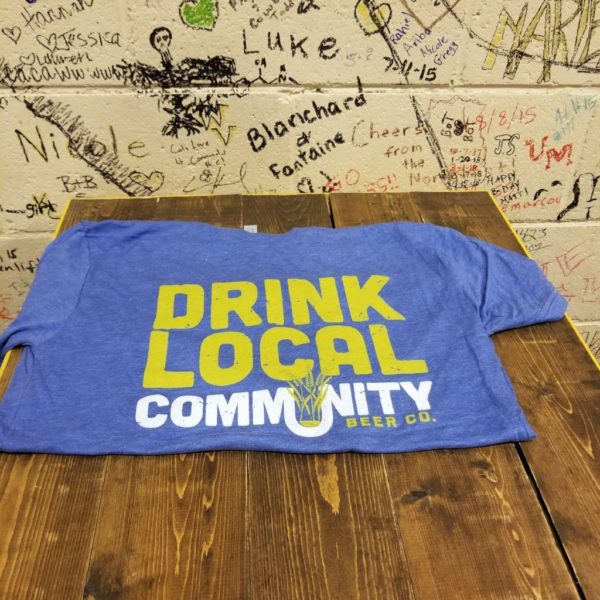 Royal Blue DRINK LOCAL Tee
