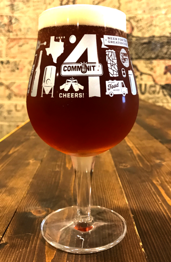 4th Anniversary Glass