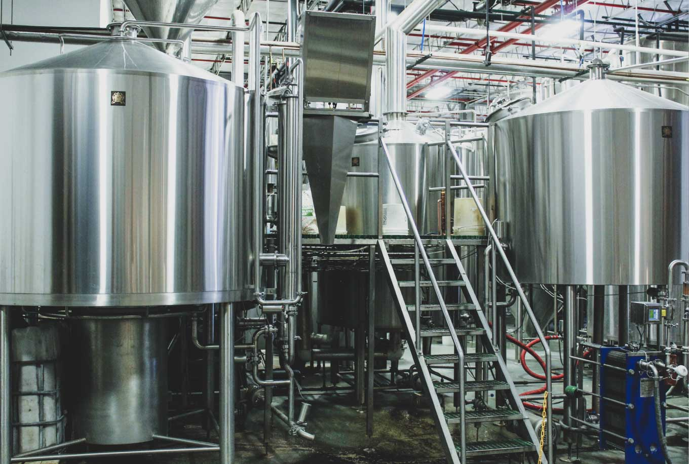 Tanks at Community Brewery